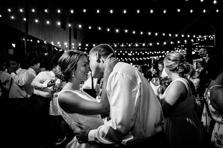 bride and groom dancing during their wedding reception at lioncrest