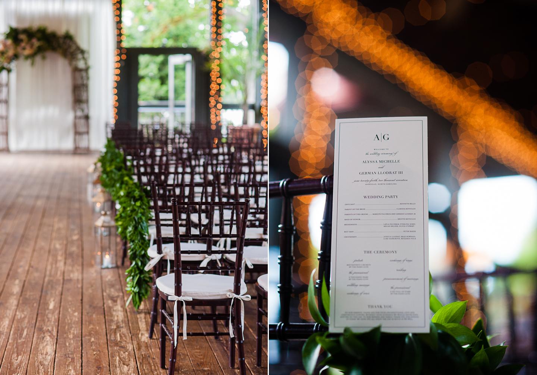 Lioncrest at Biltmore wedding ceremony details