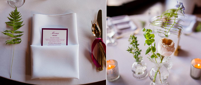 elegant and natural wedding details