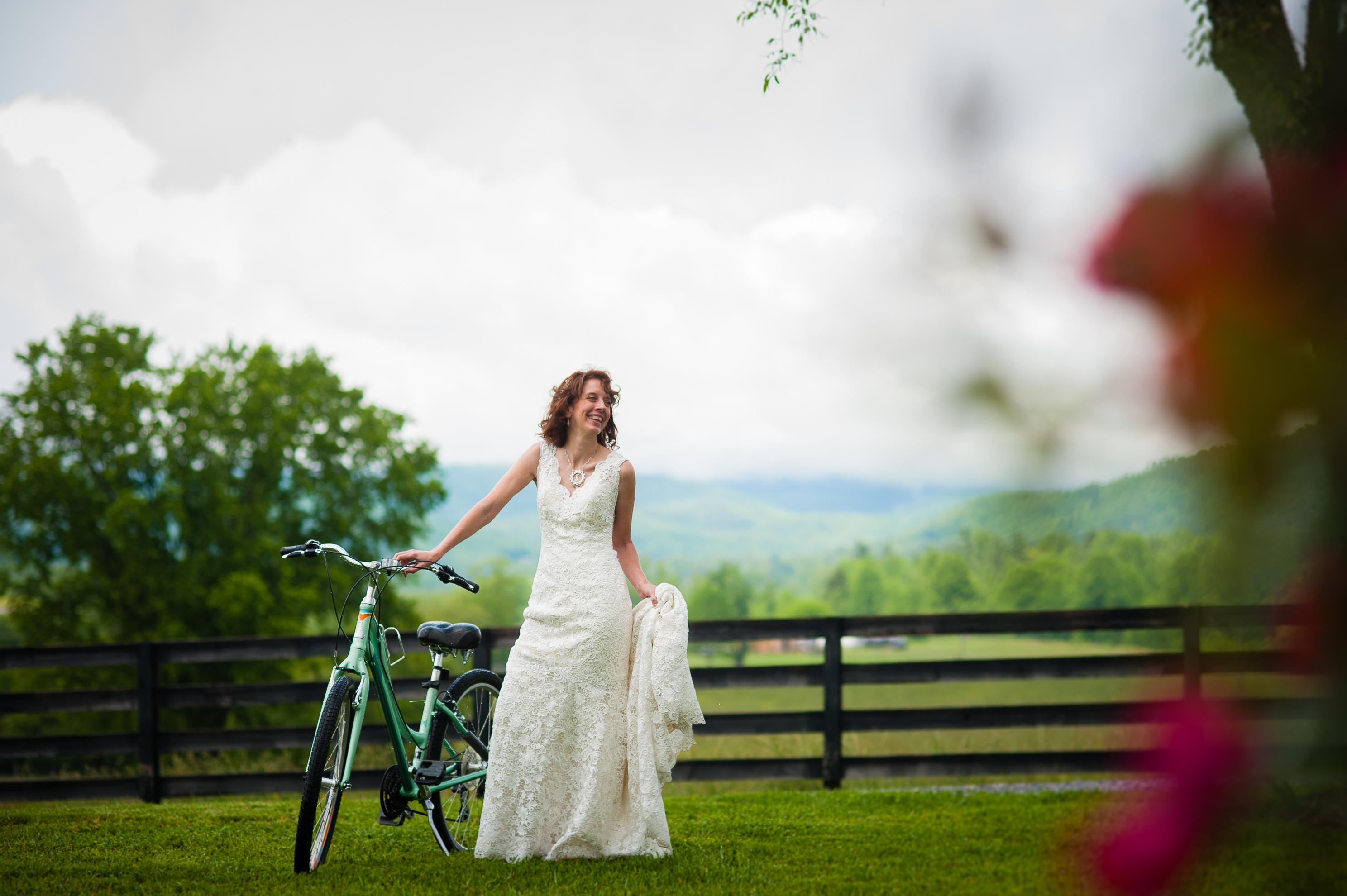 Bride and Bike at Oskar Blues REEB Ranch