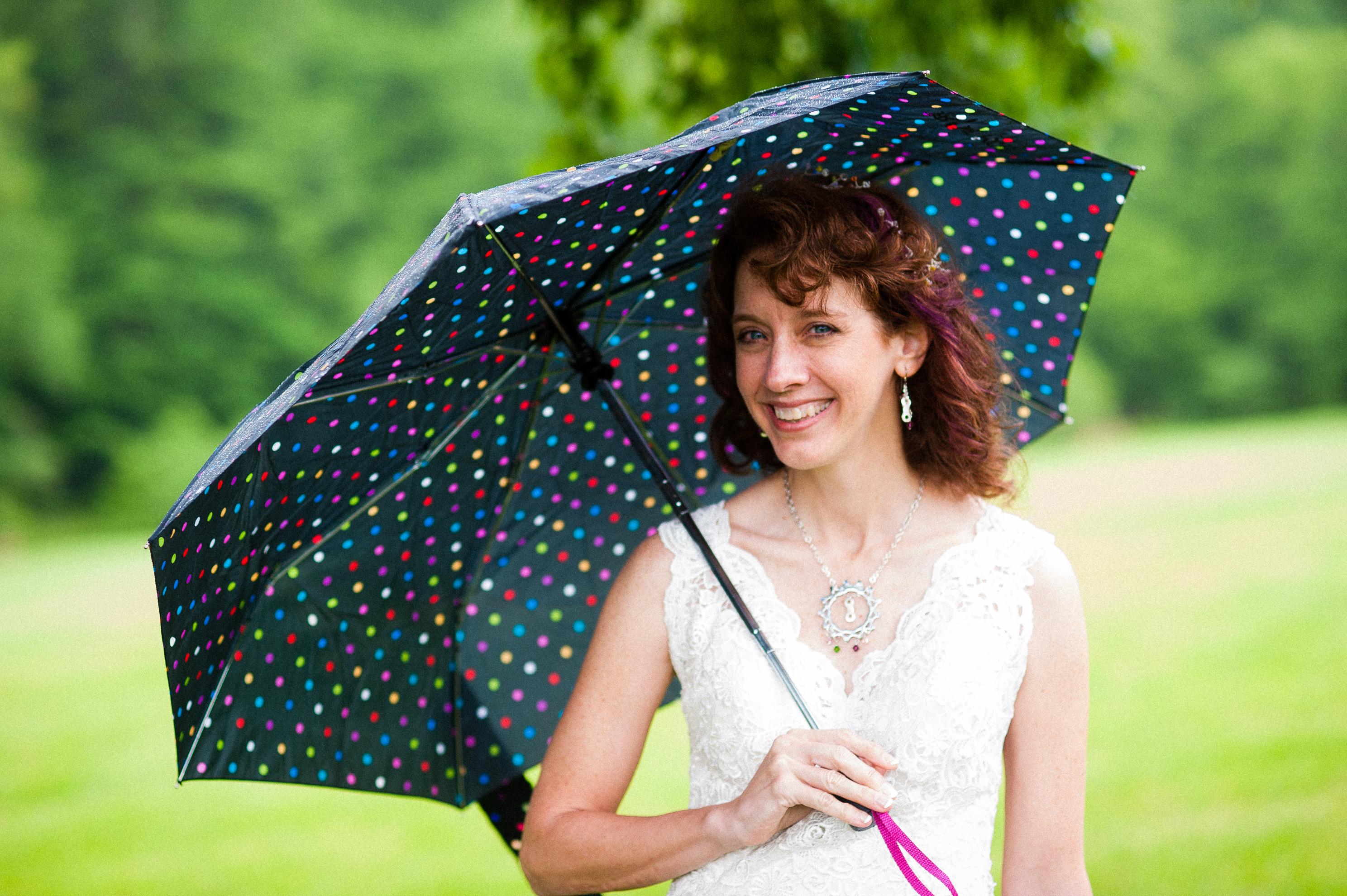 Bride with Umbrella at Reeb Ranch