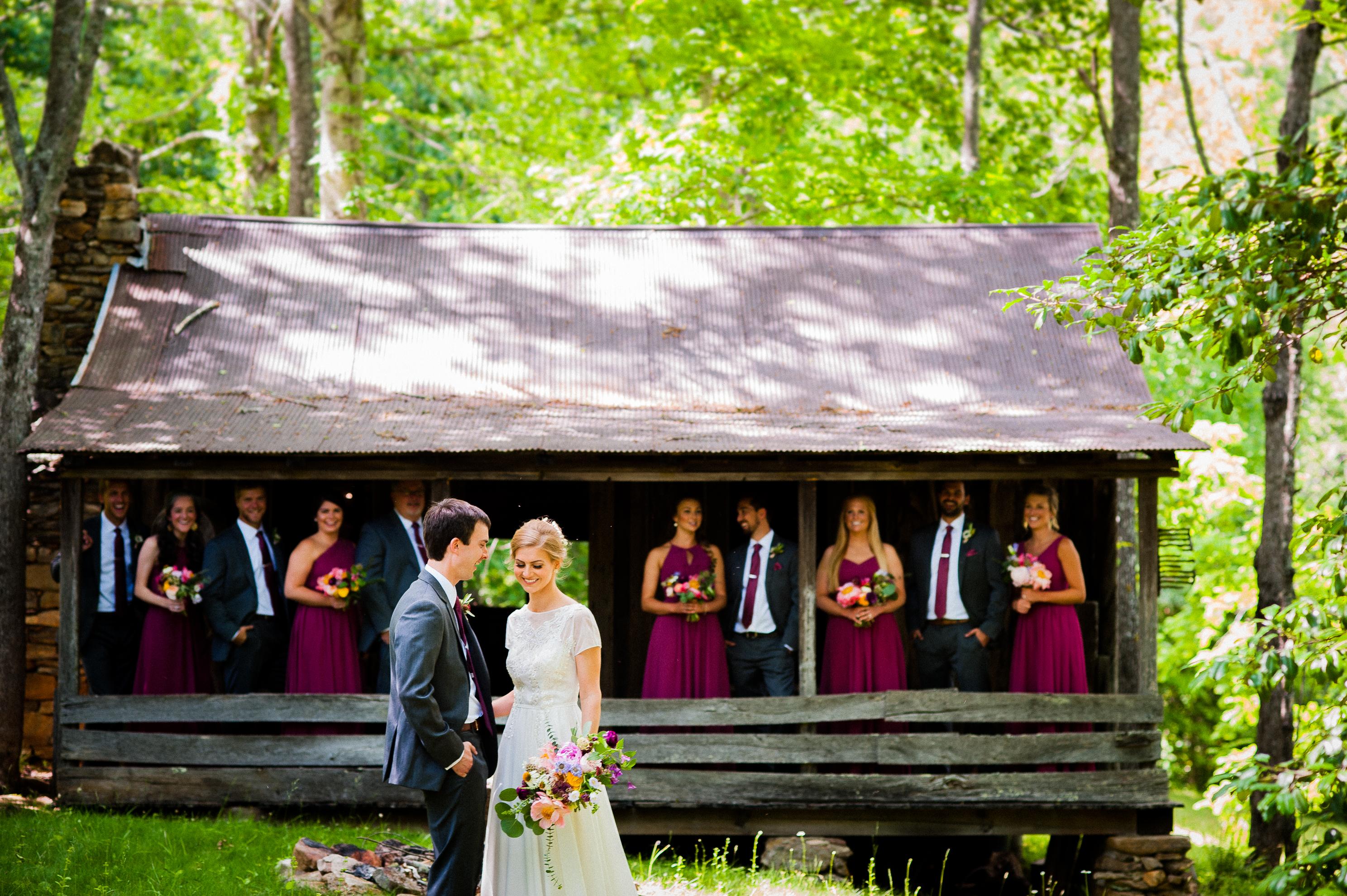 wedding party at vineyards at bettys creek