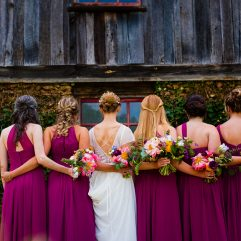 colorful wedding bouquets at the vineyards at bettys creek