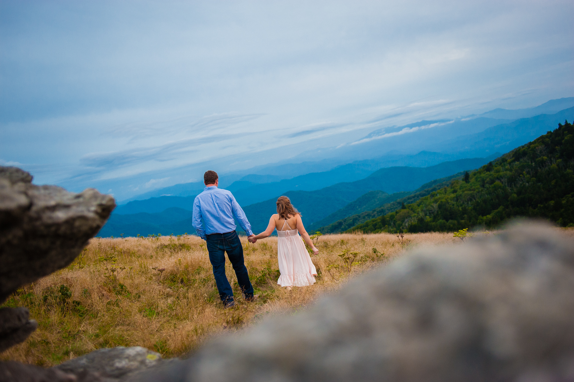 couple wanders across roan mountain
