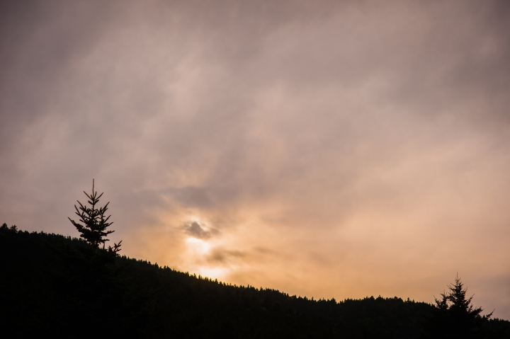carvers gap at sunset
