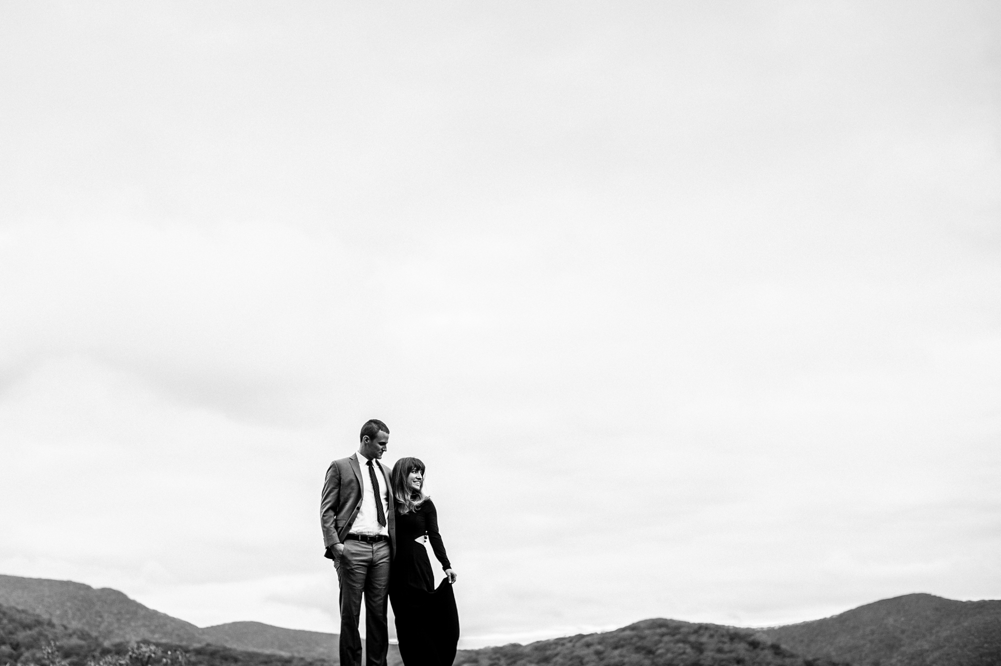 an adventurous engagement session at craggy gardens