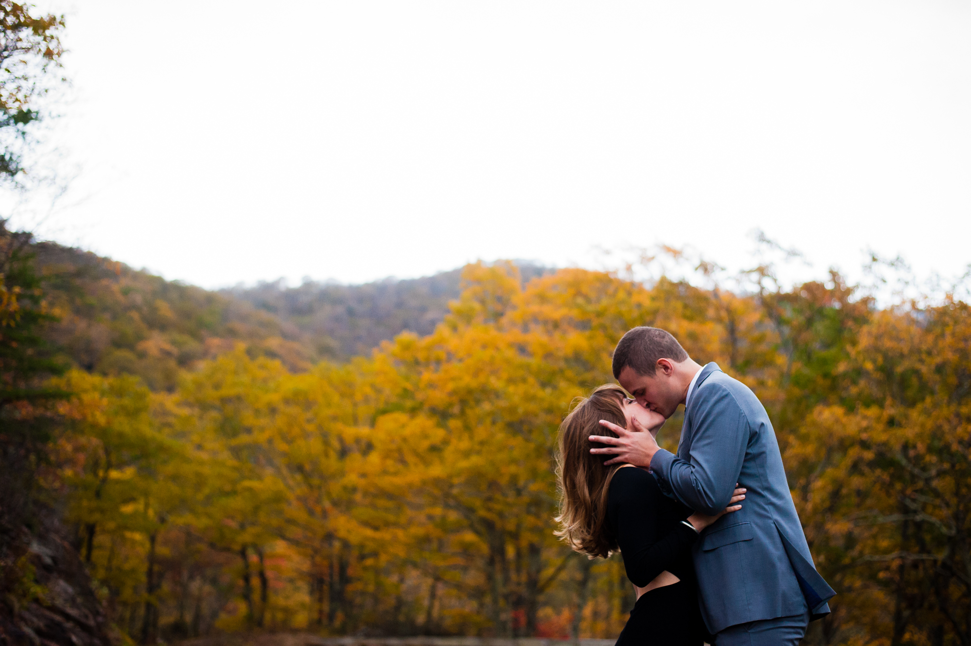 fall engagement session on the blue ridge parkway