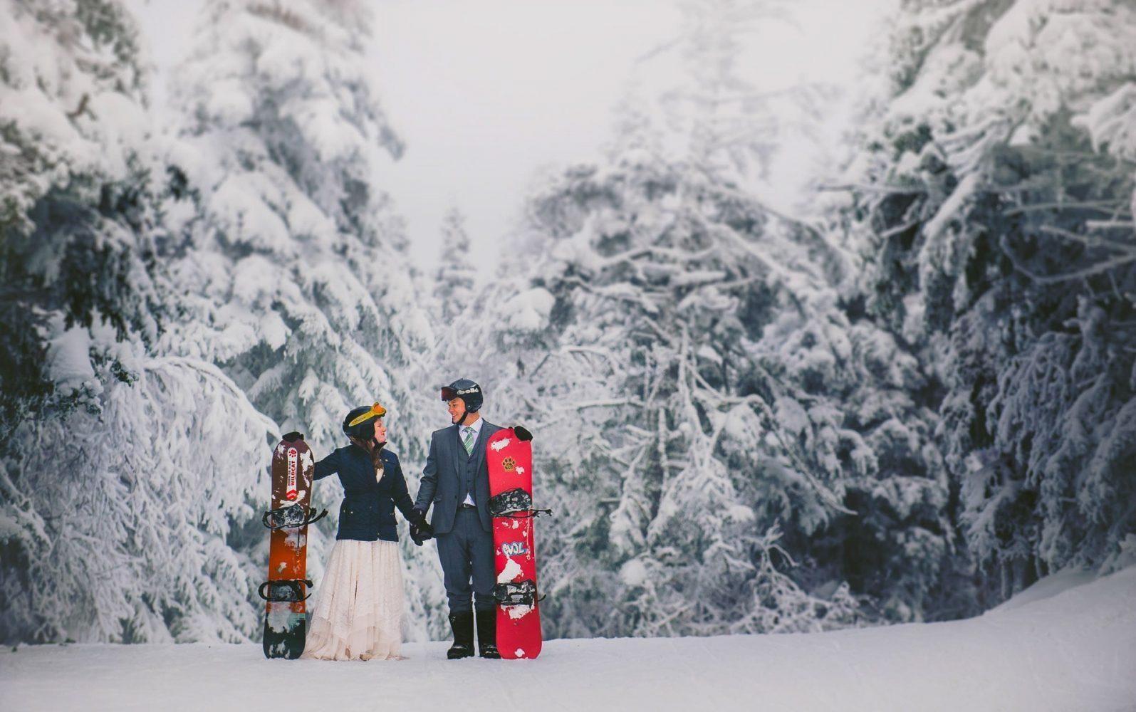 snowboarding elopement