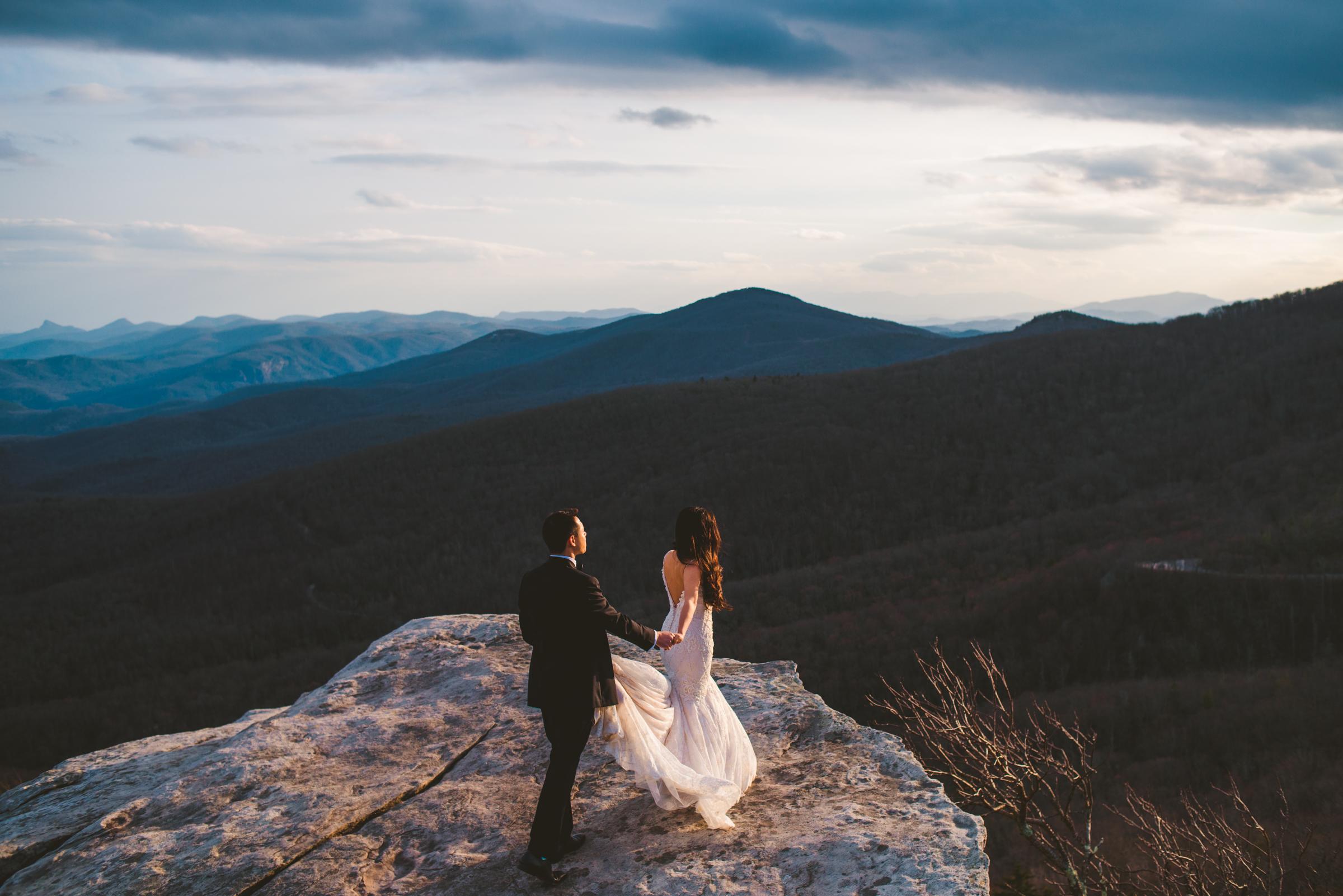 Rough Ridge elopement along the Blue Ridge Parkway