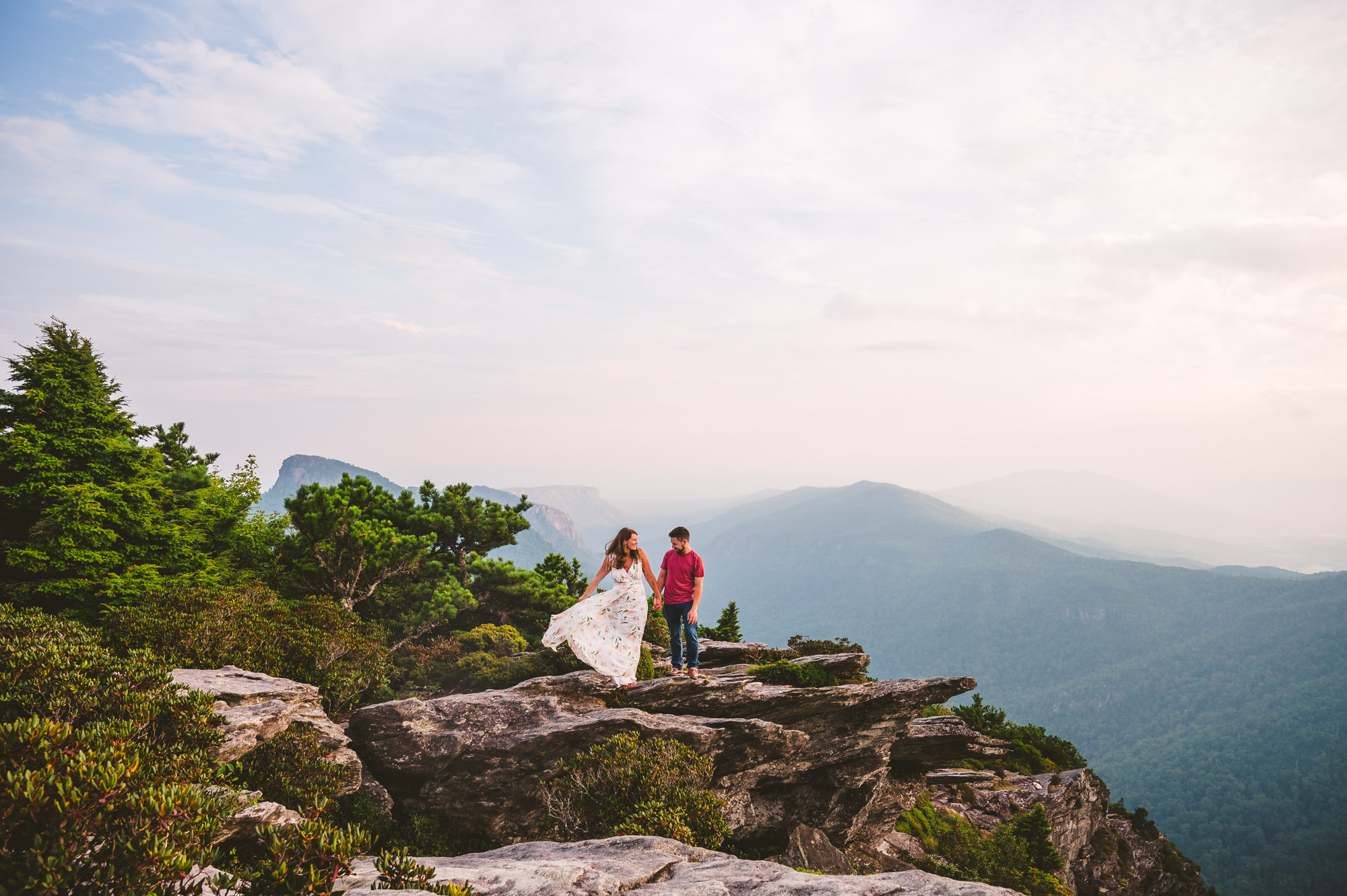 Engagement session at Hawksbill Mountain near Boone NC
