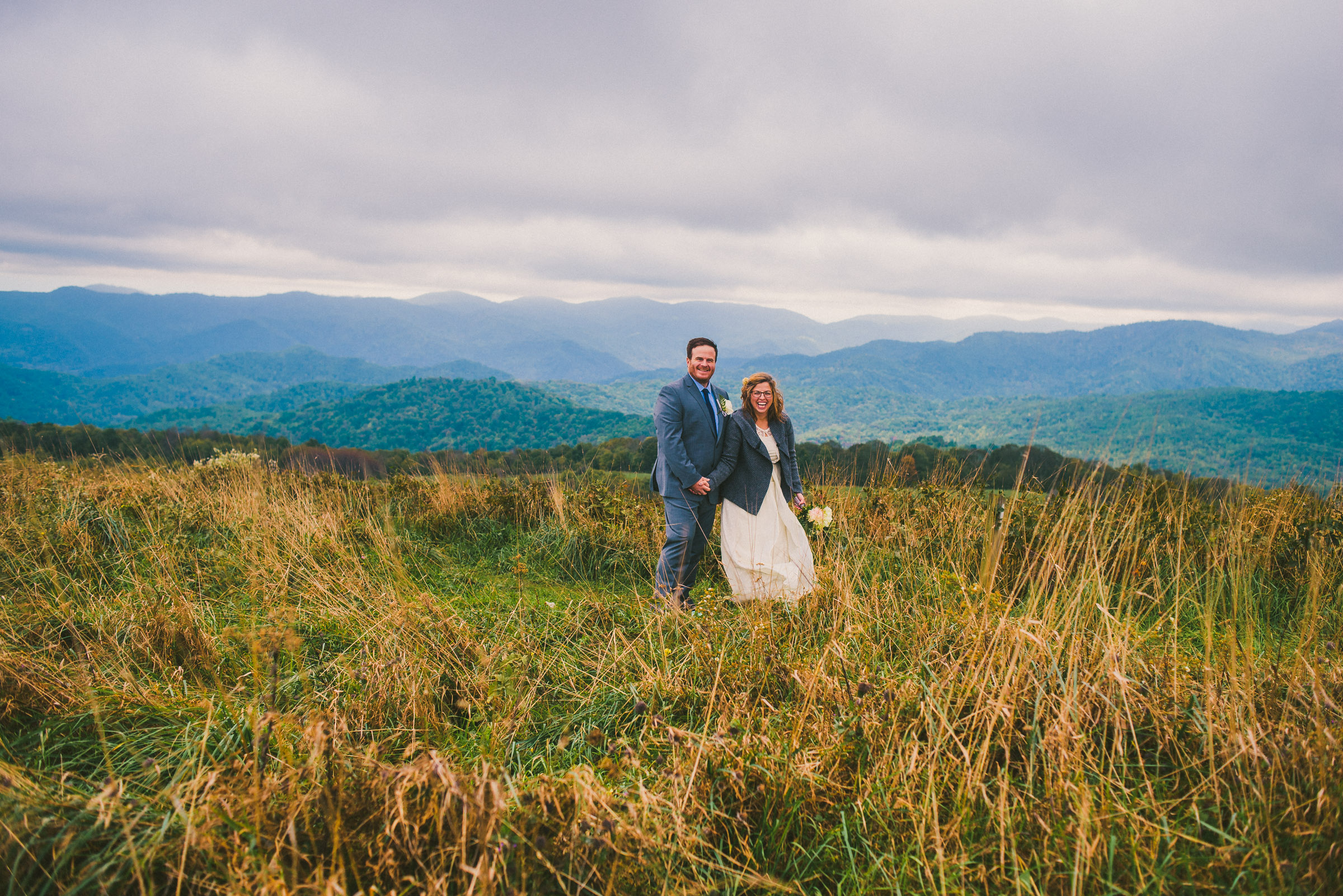 Max Patch is a popular mountain location for elopements in WNC