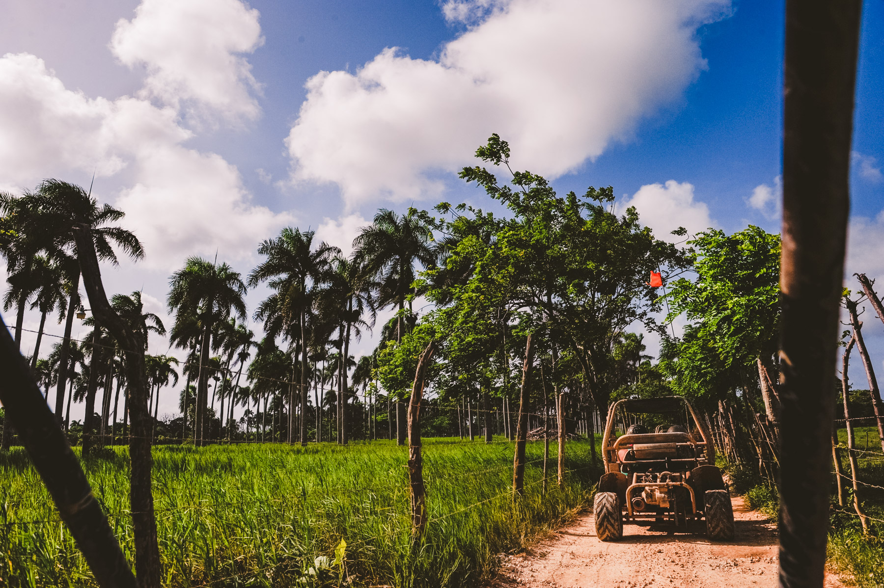 offroading during a destination elopement in the Dominican Republic