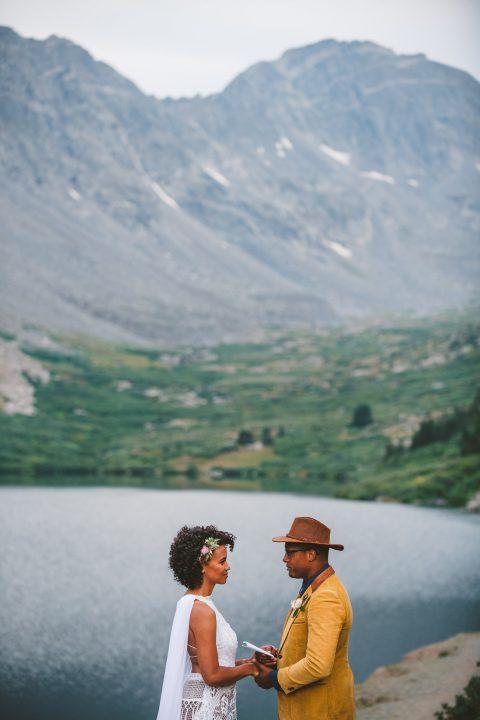 Loveland Pass Colorado elopement ceremony
