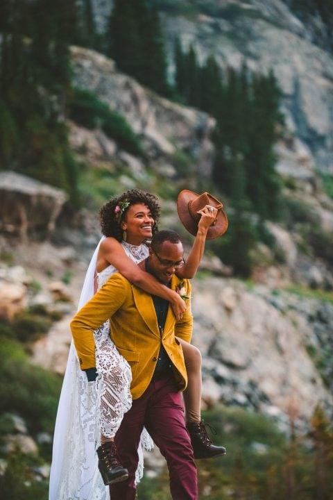 Colorado mountain wedding photography at Loveland Pass