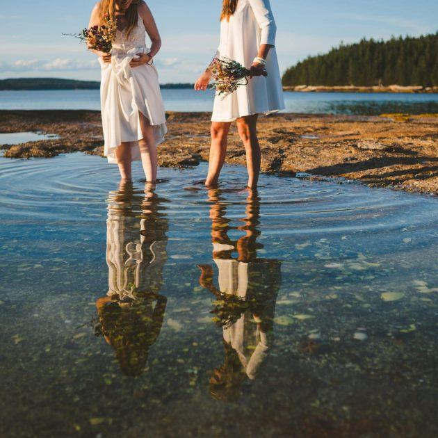 Adventure wedding on an island in Maine