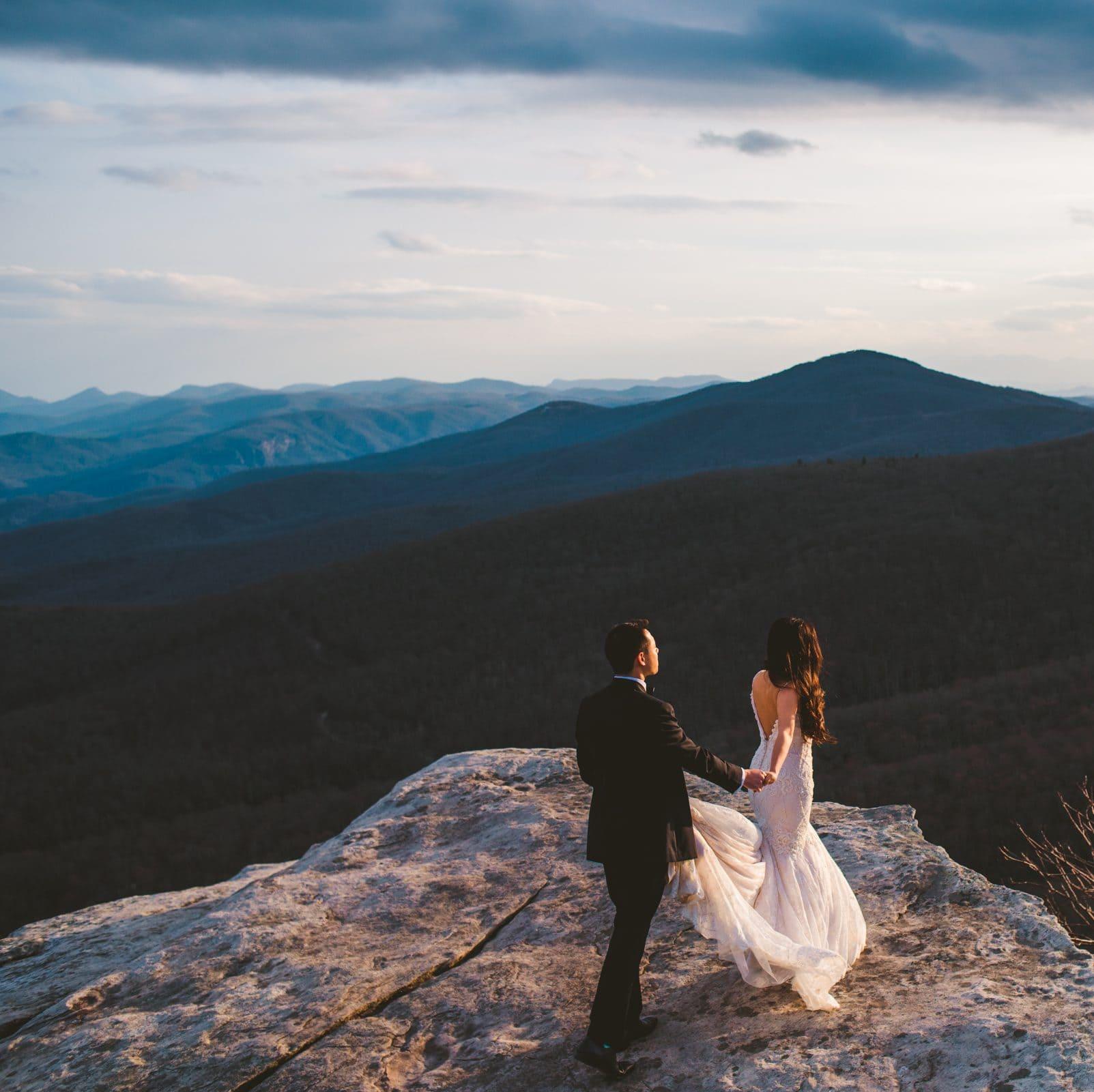 Asheville elopement photographer at Rough Ridge on the Blue Ridge Parkway