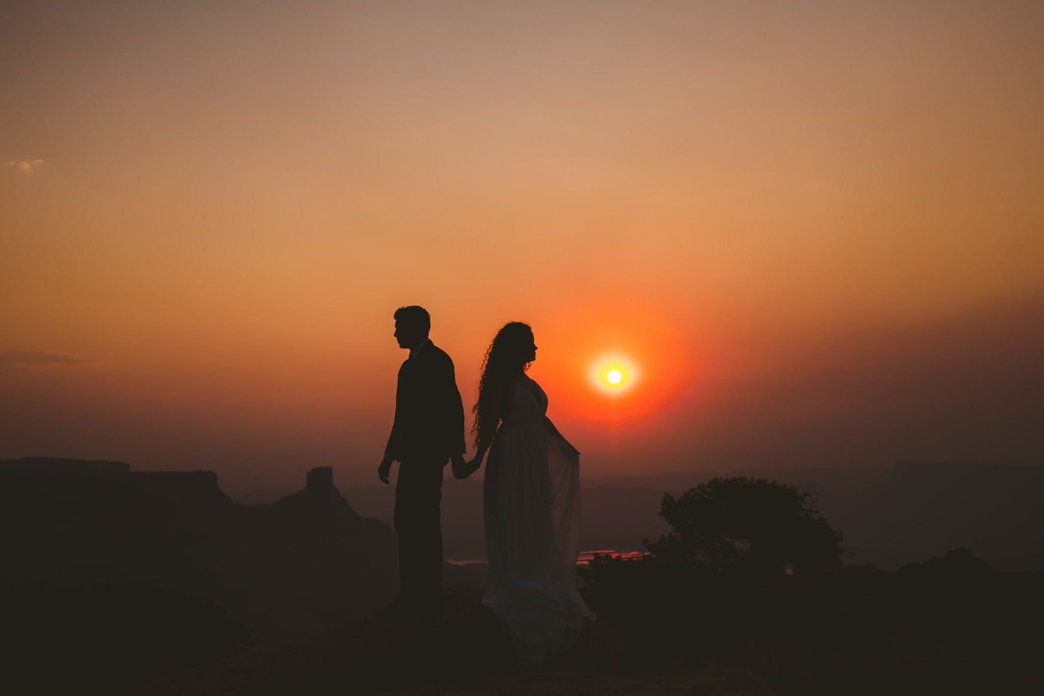 Sunrise wedding at Dead Horse Point near Moab Utah