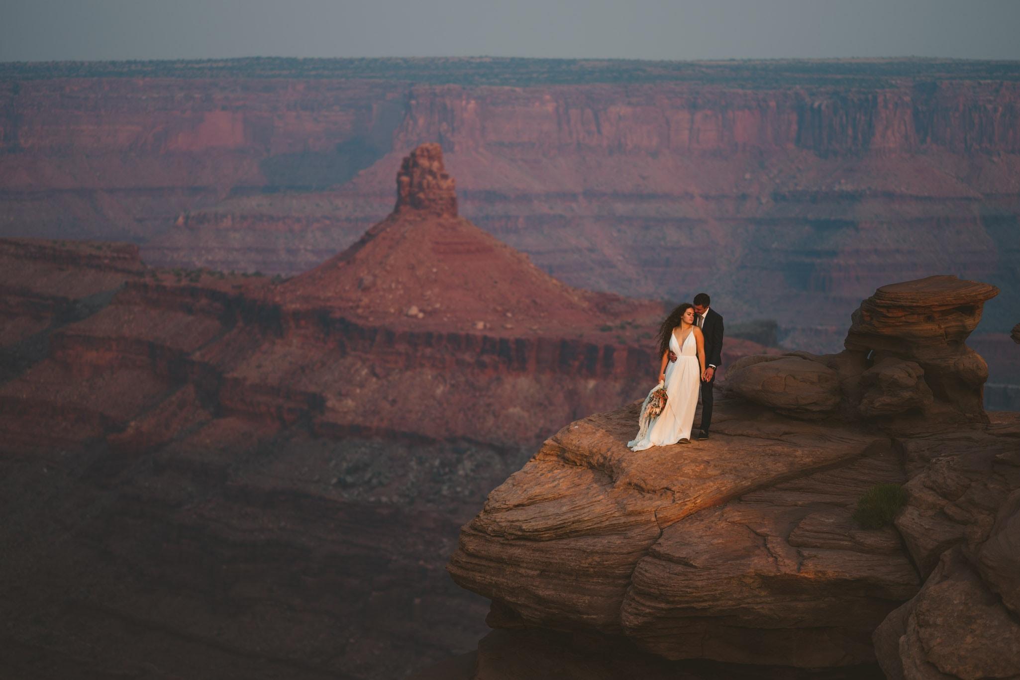 Epic wedding in Moab Utah