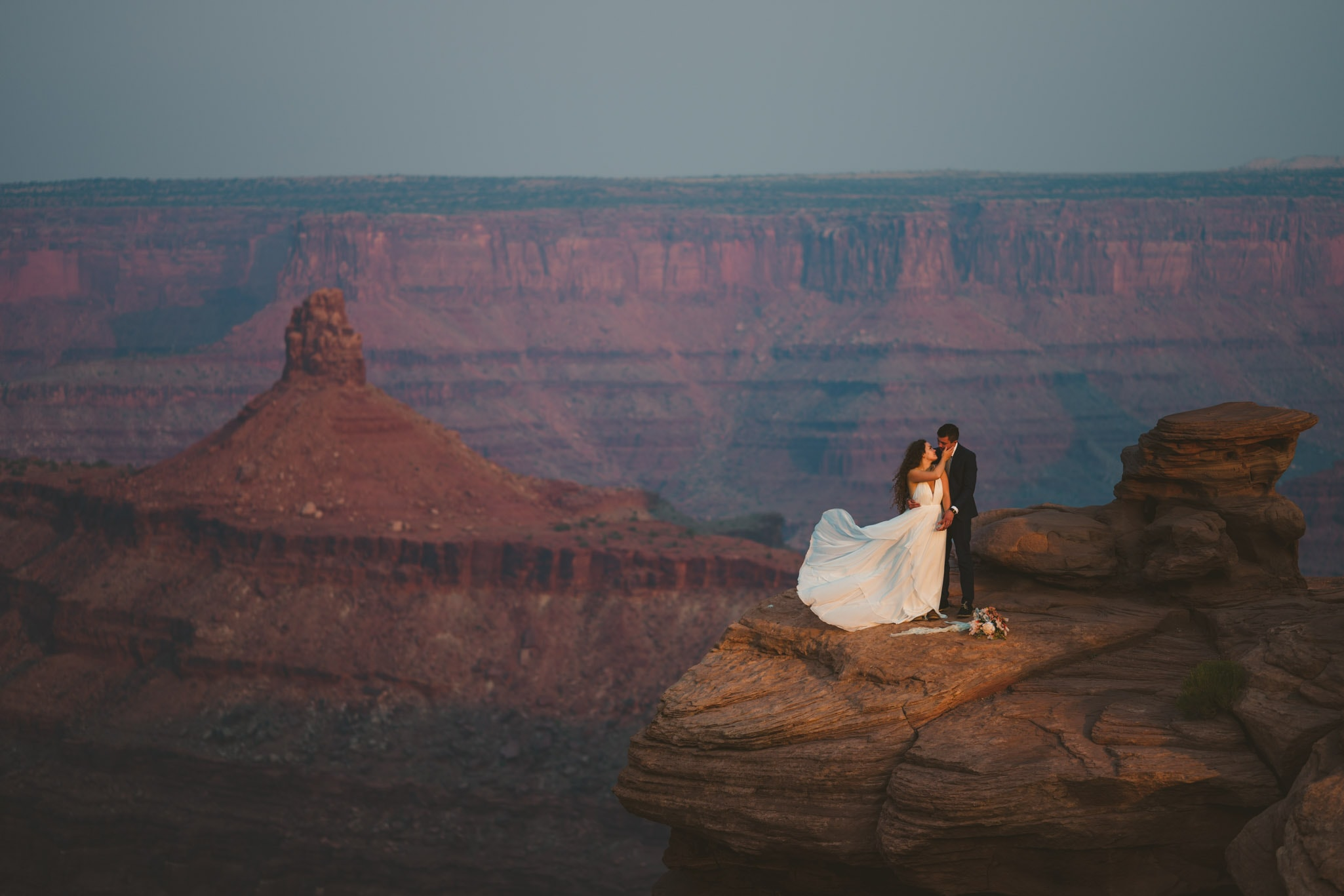 Moab Utah elopement at Dead Horse Point State Park