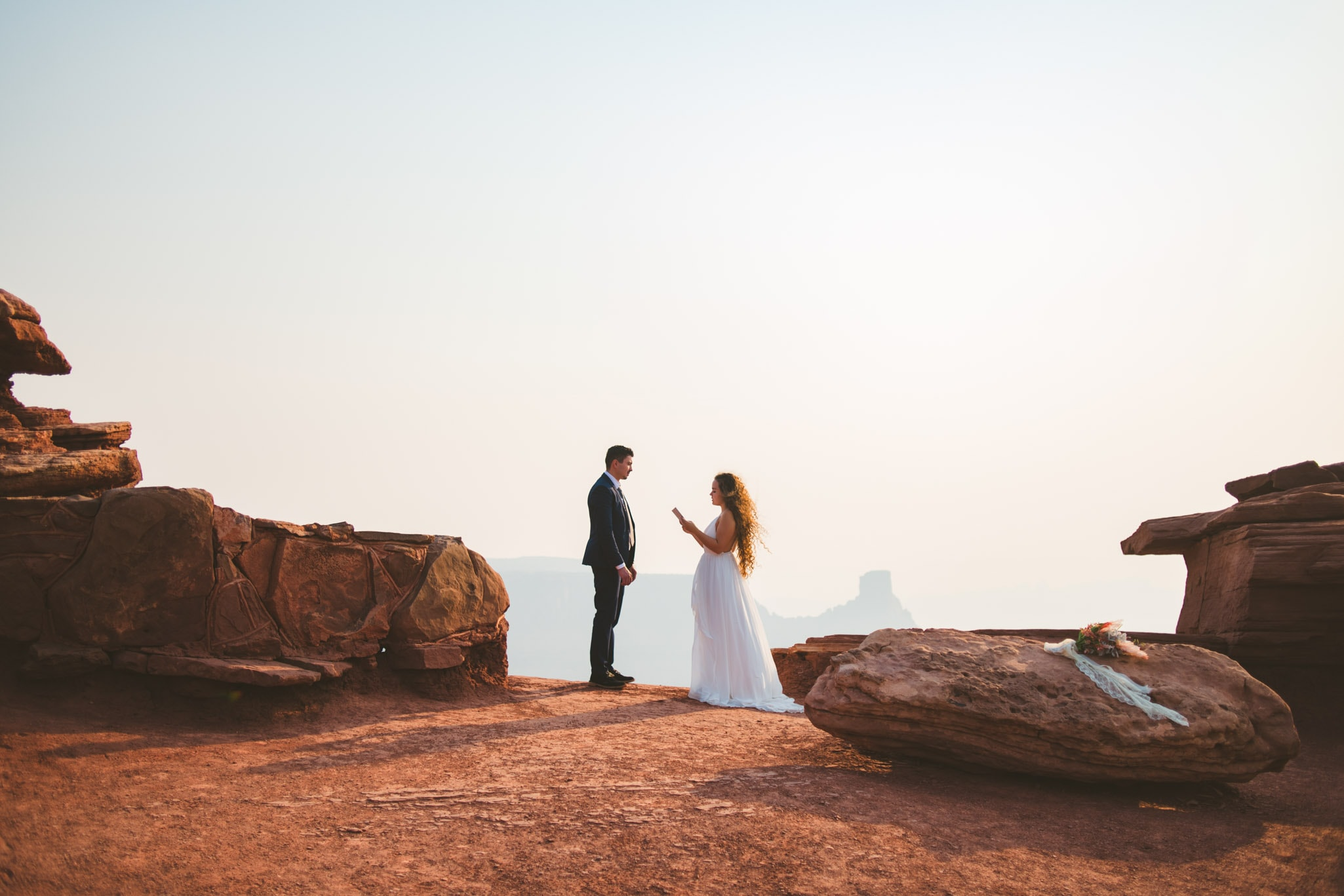 Wedding ceremony at Dead Horse Point State Park