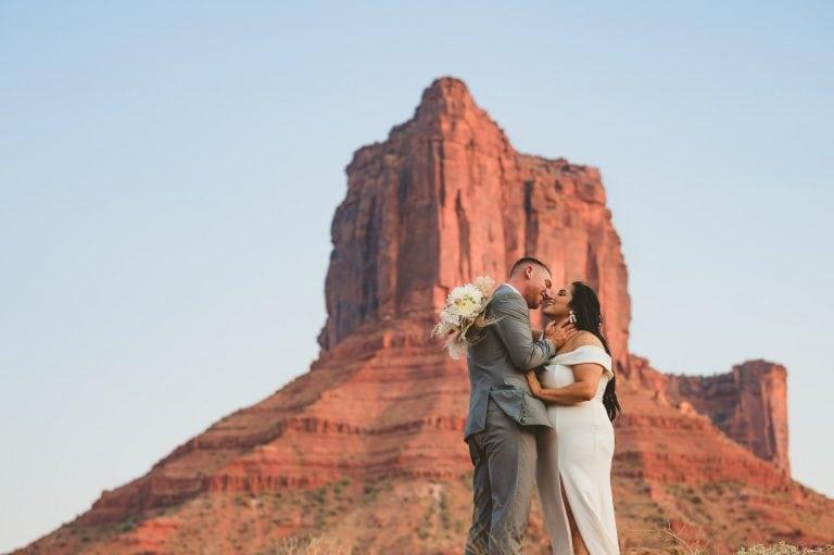 castle valley elopement in the desert