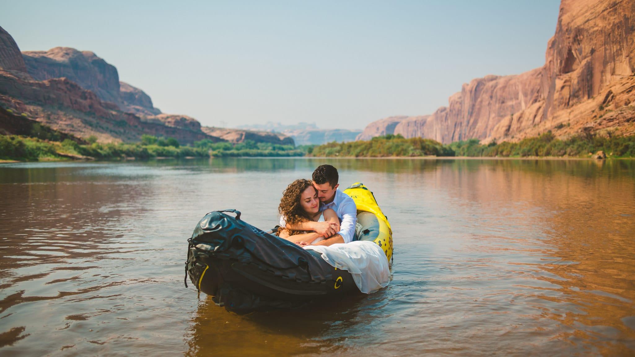 Kayaking Elopement in Moab Utah