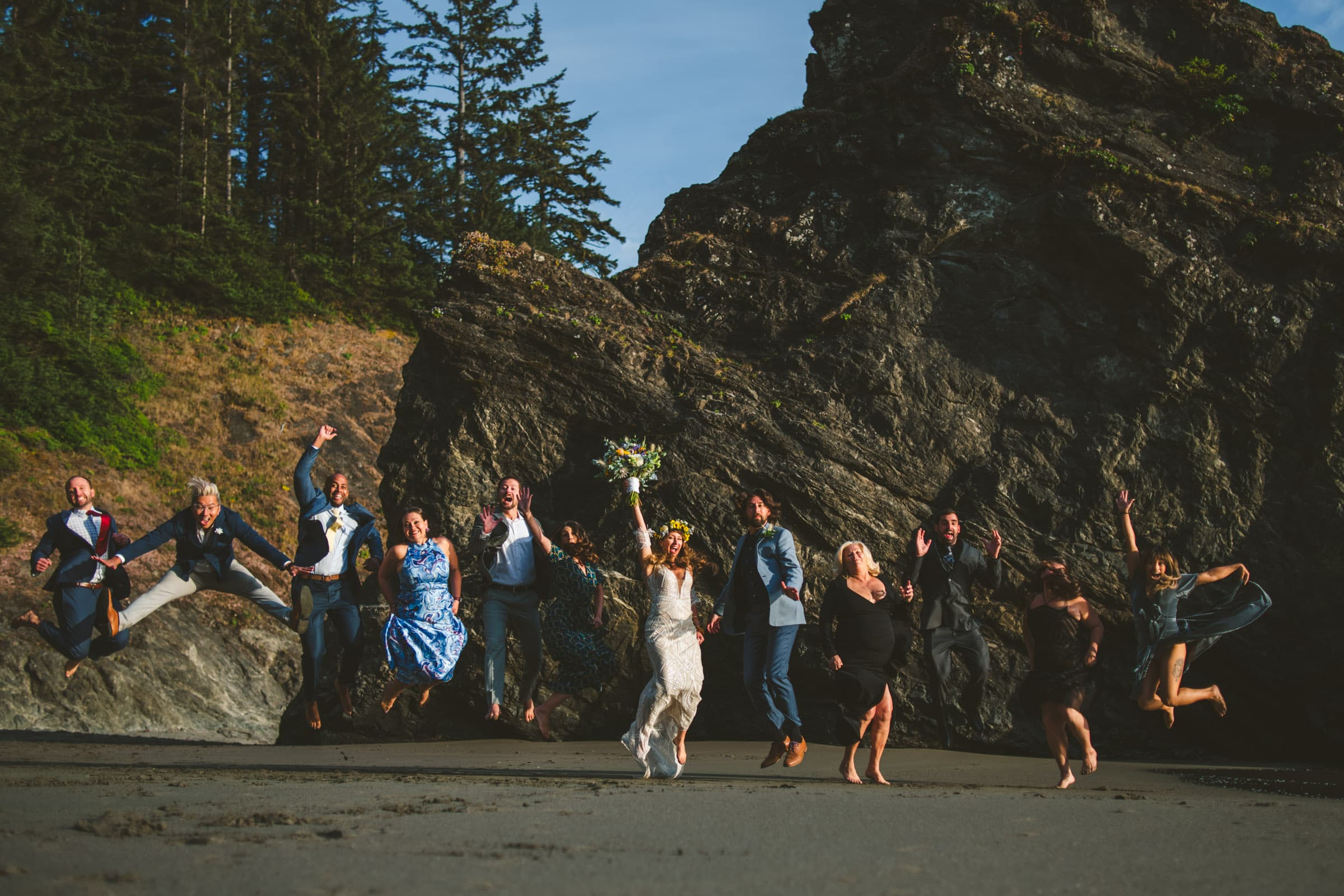 Just because you choose to have an adventure elopement doesn't mean you have to leave your friends & family at home!